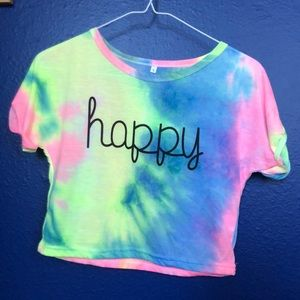Zaful 'happy' Crop Shirt
